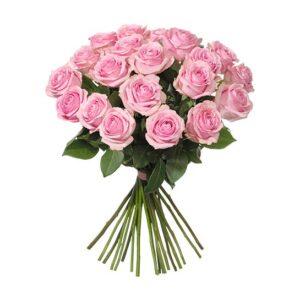 Bukett med rosa rosor. Ur Interfloras sortiment av rosbuketter.