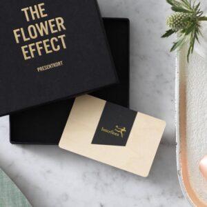 Presentkort på blommor. Finns att beställa online hos Interflora.