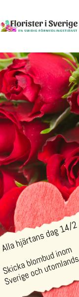 Skicka röda rosor via Florister i Sverige!